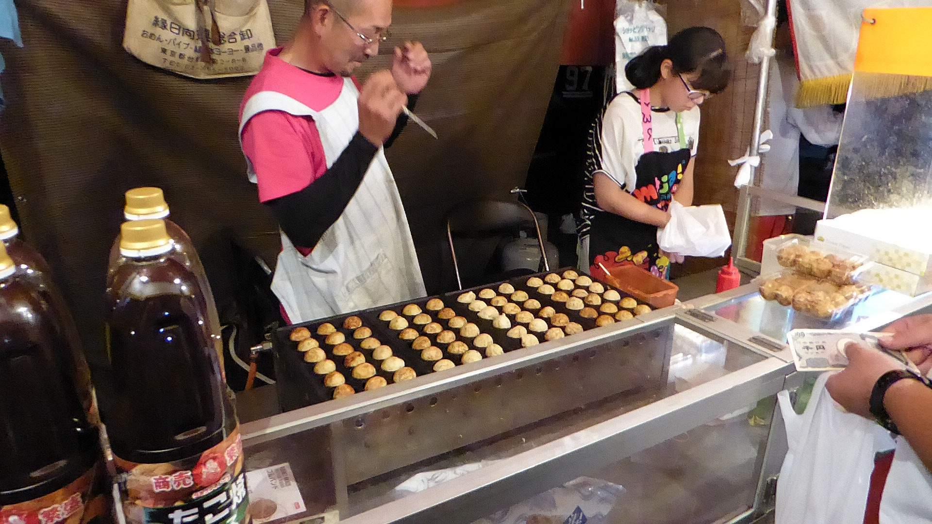 Takoyaki op de markt
